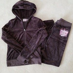 Juicy Couture cotton velore training jacket & pant